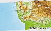 Physical 3D Map of Catanzaro
