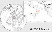 Blank Location Map of Catanzaro