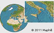 Satellite Location Map of Catanzaro