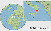 Savanna Style Location Map of Catanzaro