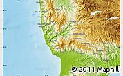 Physical Map of Catanzaro