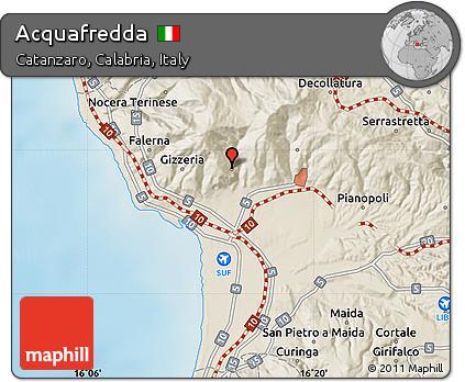 Free Shaded Relief Map of Acquafredda