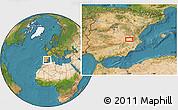 Satellite Location Map of Albacete