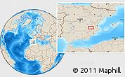 Shaded Relief Location Map of La Losilla