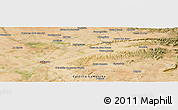 Satellite Panoramic Map of Albacete