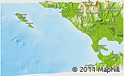 Physical 3D Map of Loúros
