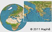 Satellite Location Map of Kanallákion
