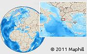 Shaded Relief Location Map of Kanallákion