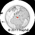 Outline Map of Preveza, rectangular outline