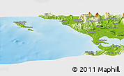 Physical Panoramic Map of Loúros