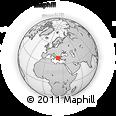 Outline Map of Lamía, rectangular outline
