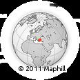 Outline Map of Çandarlı, rectangular outline