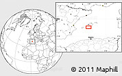 """Blank Location Map of the area around 39°3'25""""N,2°37'30""""E"""