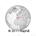 """Outline Map of the Area around 39° 3' 25"""" N, 2° 37' 30"""" E, rectangular outline"""