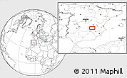 """Blank Location Map of the area around 39°3'25""""N,2°28'30""""W"""