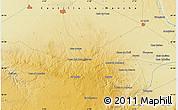 Physical Map of Villarrobledo
