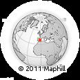 Outline Map of Villarrobledo, rectangular outline