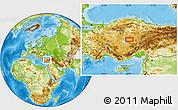 Physical Location Map of Kırşehir