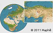 Satellite Location Map of Kırşehir