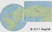 Savanna Style Location Map of Kırşehir, hill shading