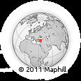 Outline Map of Kırşehir, rectangular outline