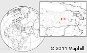 Blank Location Map of Bingöl