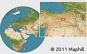 Satellite Location Map of Bingöl