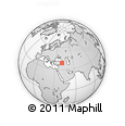 Outline Map of Bingöl, rectangular outline