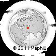 Outline Map of Gumdag, rectangular outline