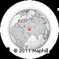 Outline Map of Gazanjyk, rectangular outline