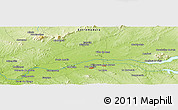 "Physical Panoramic Map of the area around 39° 3' 25"" N, 5° 52' 30"" W"