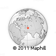 """Outline Map of the Area around 39° 3' 25"""" N, 62° 7' 30"""" E, rectangular outline"""