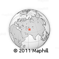 """Outline Map of the Area around 39° 3' 25"""" N, 62° 58' 30"""" E, rectangular outline"""