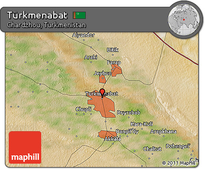 Free Satellite 3D Map of Trkmenabat
