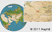 """Satellite Location Map of the area around 39°3'25""""N,63°49'30""""E"""