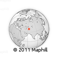 Outline Map of Kyrlishan, rectangular outline