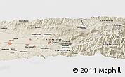 Shaded Relief Panoramic Map of Kitob