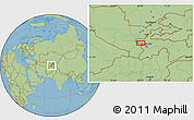 "Savanna Style Location Map of the area around 39°3'25""N,68°4'29""E"