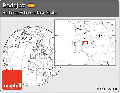 Blank Location Map of Badajoz