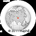 Outline Map of Taklamakan Desert, rectangular outline