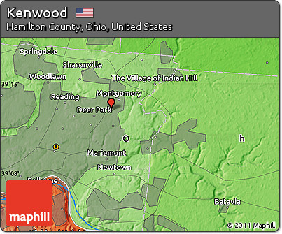 Free Political Map of Kenwood