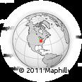 Outline Map of Cincinnati, rectangular outline