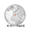 Outline Map of Capoterra, rectangular outline