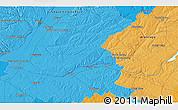 Political 3D Map of Santarém