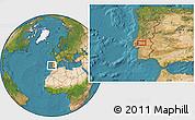 Satellite Location Map of Santarém