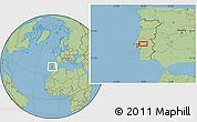 Savanna Style Location Map of Santarém