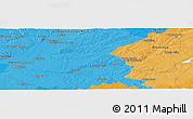 Political Panoramic Map of Santarém