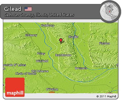 Free Physical Panoramic Map of Gilead on mount zion illinois, hardin illinois, naples illinois, phoenix illinois, burnt prairie illinois, zurich illinois, brighton illinois, springfield illinois, la salle illinois, hanover illinois, dow illinois, columbus illinois, kampsville illinois, calhoun county illinois, venice illinois, lake villa illinois, batchtown illinois, la grange illinois, united states illinois, lima illinois,