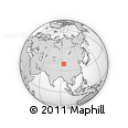 Outline Map of Jietuoba, rectangular outline