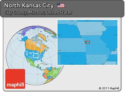 Political Location Map Of North Kansas City